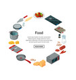 cooking food isometric vector image vector image