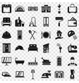 cozy house icons set simple style vector image vector image