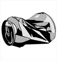 crumpled tin can vector image