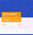 cryptocurrency concept with thin line icons vector image vector image