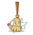 cupid broom character cartoon style vector image