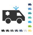 emergency car icon vector image