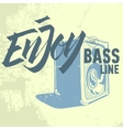 Enjoy The Bass Line Pocket Speaker Amplifier vector image vector image