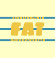 fat font alphabet vector image vector image