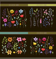 floral watercolor collection vector image vector image