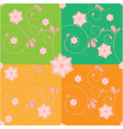 flower backdrop vector image vector image