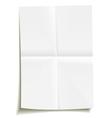 folded sheet paper vector image