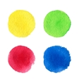 Four watercolor dots vector image