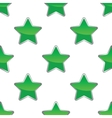 Green star pattern vector image vector image