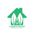 heart and leaves logo design vector image vector image