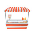 hot dog street stand vector image