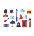 london symbols set vector image vector image