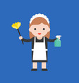 maid cute character professional set flat design vector image