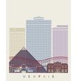 Memphis skyline poster vector image vector image