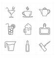 modern bar icons vector image vector image