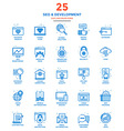 Modern Flat Line Color Icons SEO vector image