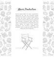 movie production banner template with place vector image