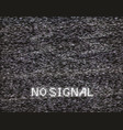 no signal in analog tv vector image vector image