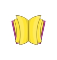Open thick book icon cartoon style vector image vector image