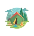 Outdoor Recreation Camping vector image