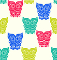 pattern of Cute Owl pattern seamless vector image vector image