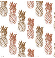 pattern with hand drawn pineapple vector image