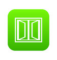 plastic window frame icon green vector image vector image