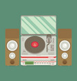 player for vinyl record music flat vector image vector image