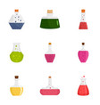 potion icon set flat style vector image vector image