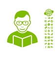 Reader Icon With Free Bonus vector image vector image
