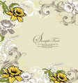 Retro floral card for events vector image