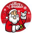 Santa greeting christmas vector image vector image
