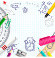 school creative background vector image vector image