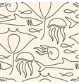Seamless pattern made of sea fauna vector image vector image