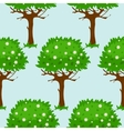 Seamless pattern with blossomed trees vector image
