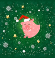 seamless pattern with pig holiday wallpaper vector image