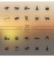 Set of sushi icons vector image
