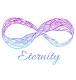 sign of eternity with a boho pattern and col vector image vector image