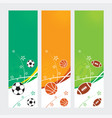 sports banners - soccer football amp basketball vector image vector image