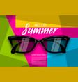 summer time sunglasses halftone pop art vector image