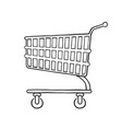 supermarket shopping cart vector image vector image