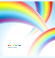 thee rainbows in the sky vector image vector image