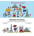 travel to france french symbols internet web pages vector image vector image