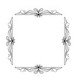 vintage elegant square frame with leaves vector image vector image
