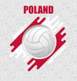 volleyball poland background vector image vector image