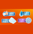 washing clothes stickers set stickers - micro vector image vector image