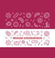 wuhan coronavirus concept thin line banners vector image