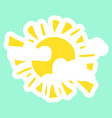 yellow fun sun vector image vector image
