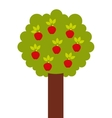 apple tree isolated icon design vector image