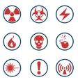 radiation symbol icon vector image